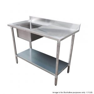 Economic 304 Grade SS Stainless Steel Single Single Double Bowl Sink Benches 700mm Deep