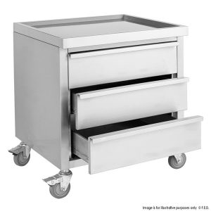 Mobile Work Stand with 3 Drawers MDS-6-700