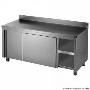 Kitchen Tidy Workbench Cabinet with Splashback