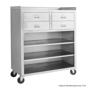 Mobile cabinet with 4 Drawers and 3 Shelves MS116