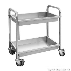 Stainless Steel Basin trolley with 2 shelves