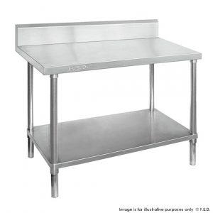 Premium 304 Grade Stainless Work Bench Undershelf Splashback
