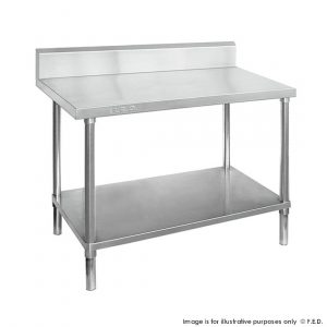 Economic 304 Grade Stainless Steel Tables with Splashback 600 Deep