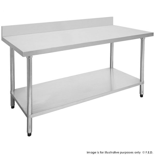 Economic 304 Grade Stainless Steel Tables with Splashback 700 Deep