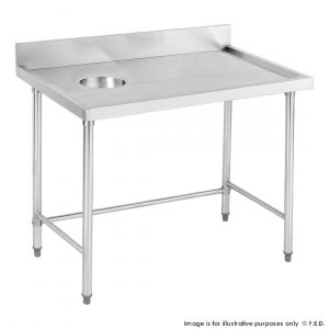 SWCB-7-1200R High Quality Stainless Steel Bench with Splashback